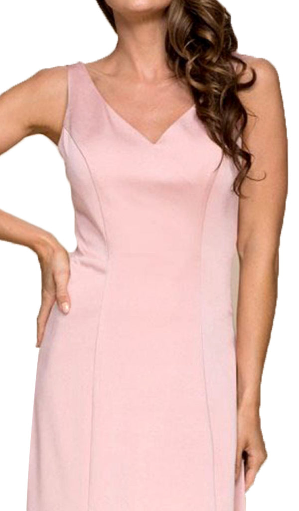 Sleeveless V-neck A-line Dress