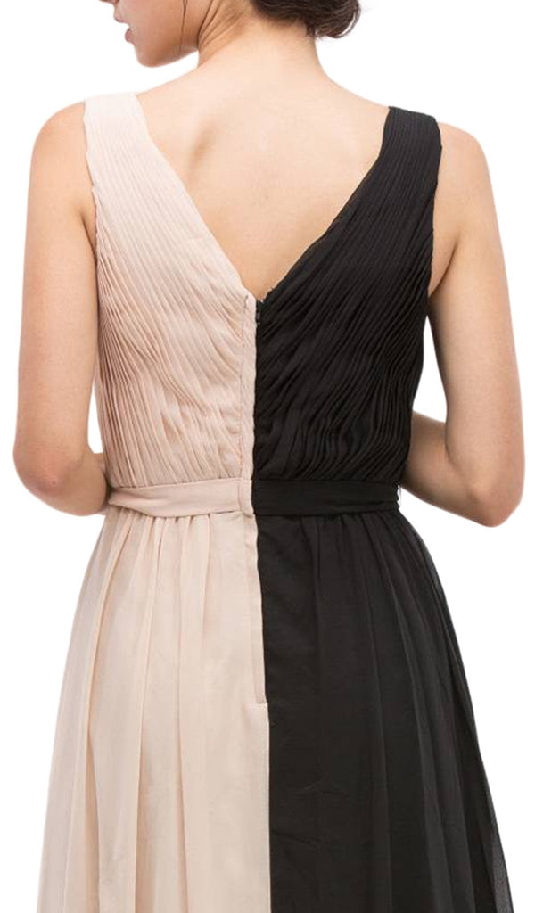 V-neck Chiffon Pleated A-line Dress
