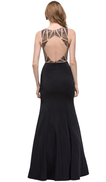 Fitted Stretch Satin Mermaid Evening Dress