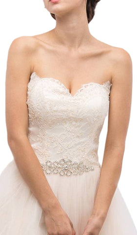 Strapless Corset Style Back Wedding Gown
