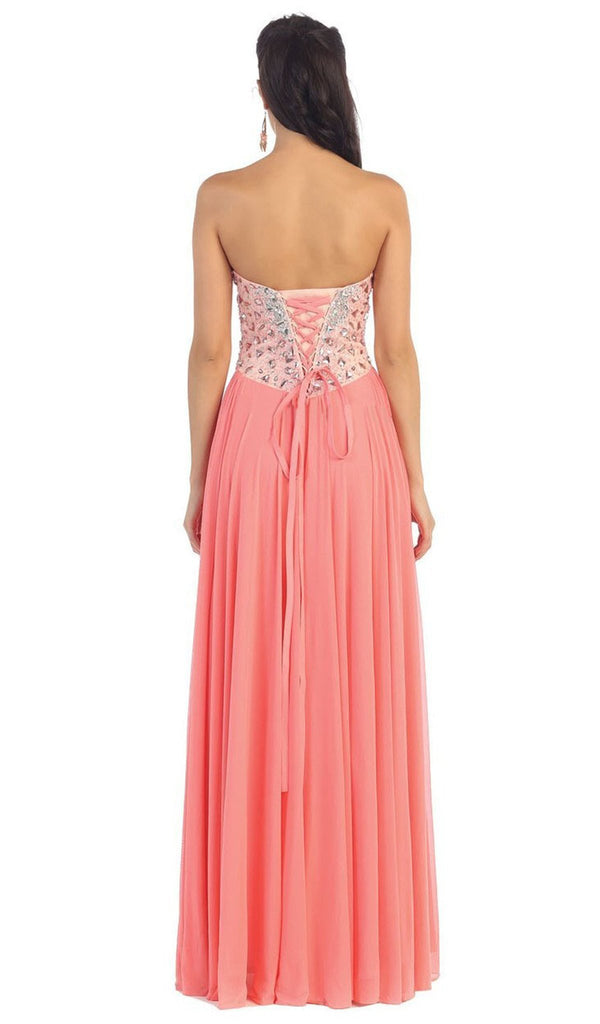 Bedazzled Sweetheart A-line Prom Dress - ADASA