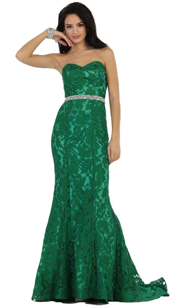 Lace Sweetheart Trumpet Evening Dress
