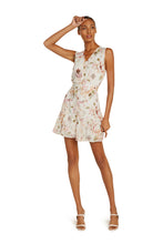 Load image into Gallery viewer, Allie Silk Mini Dress In White Floral