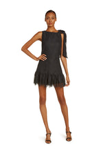 Load image into Gallery viewer, Perla Cotton Lace Mini Dress In Black