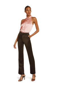 Josephine Silk Halter Top in Blush Pink