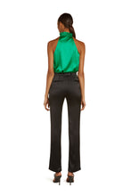 Load image into Gallery viewer, Josephine Silk Halter Top in Vivid Green