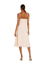 Load image into Gallery viewer, Leonie Silk Blend Midi Dress in Peach Fuzz