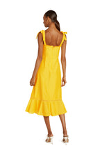 Load image into Gallery viewer, Jolene Cotton Midi Dress in Yellow Solar