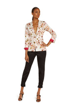 Load image into Gallery viewer, Clementine Cotton Notch Collar Jacket in White Floral