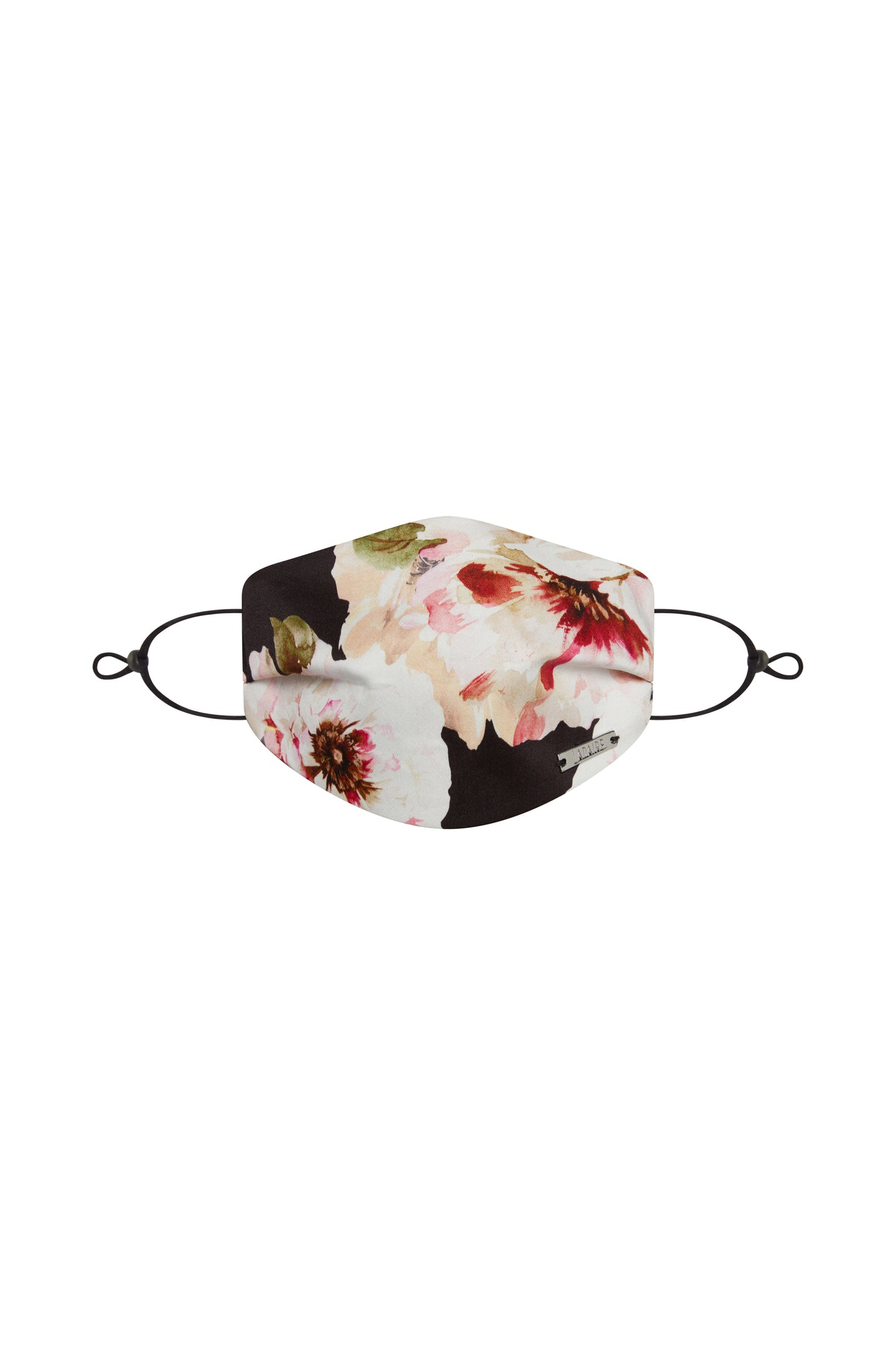 Small Floral Silk / Cotton Face Mask with Filter Pocket and Adjustable Straps