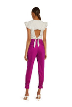 Load image into Gallery viewer, Marie Cotton High Waist Pants in Hot Pink