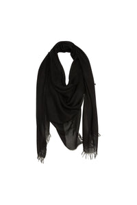 Florencia Cashmere Blend Shawl In Black