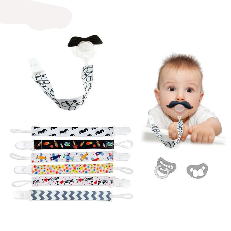 Pacifier Clip Chain Ribbon Holder