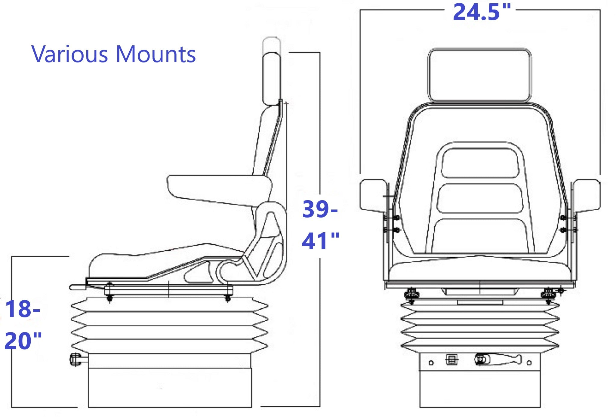 Concentric 330S Box Pedestal Technical Drawing
