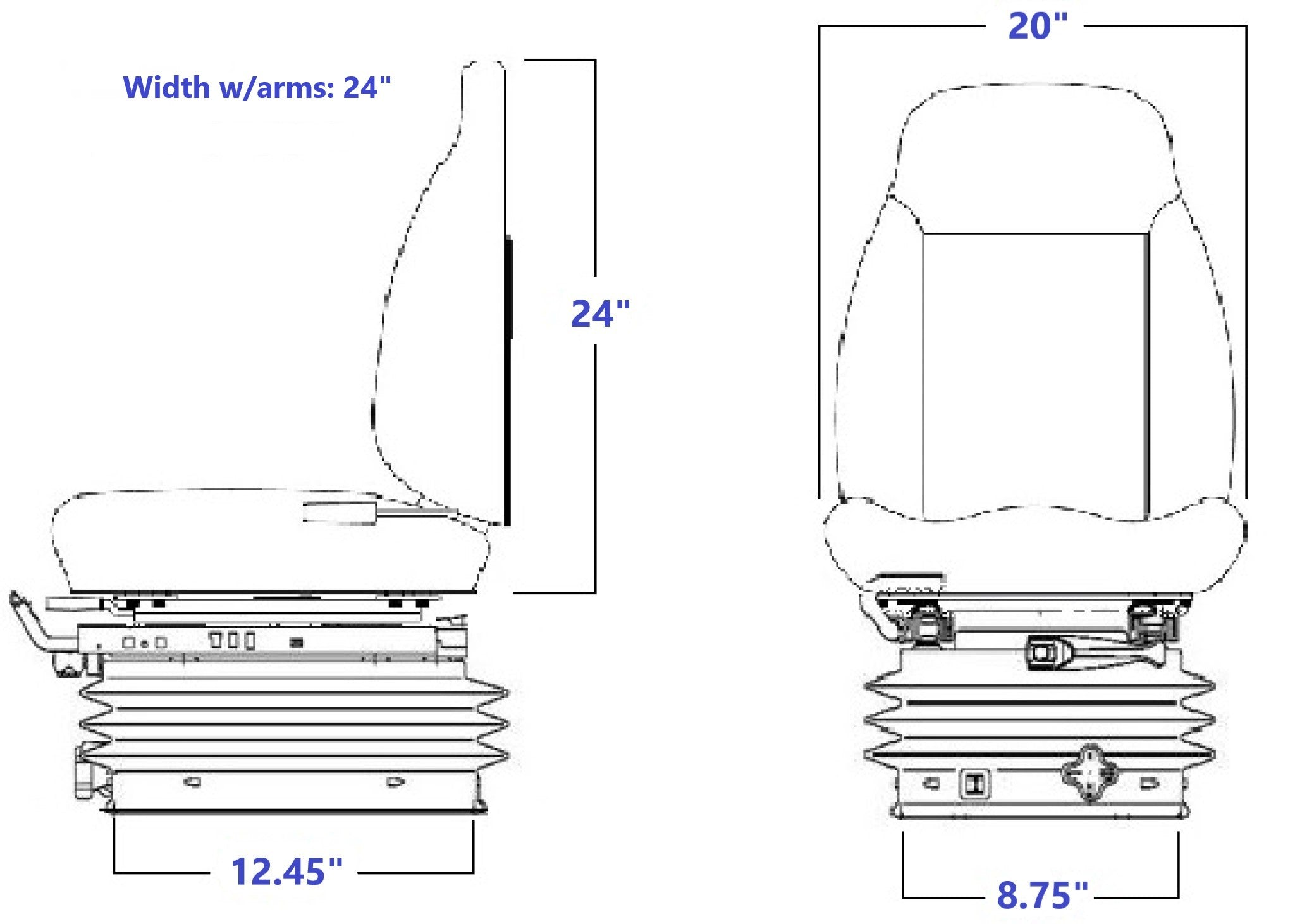 8344 w/arms Technical Drawing
