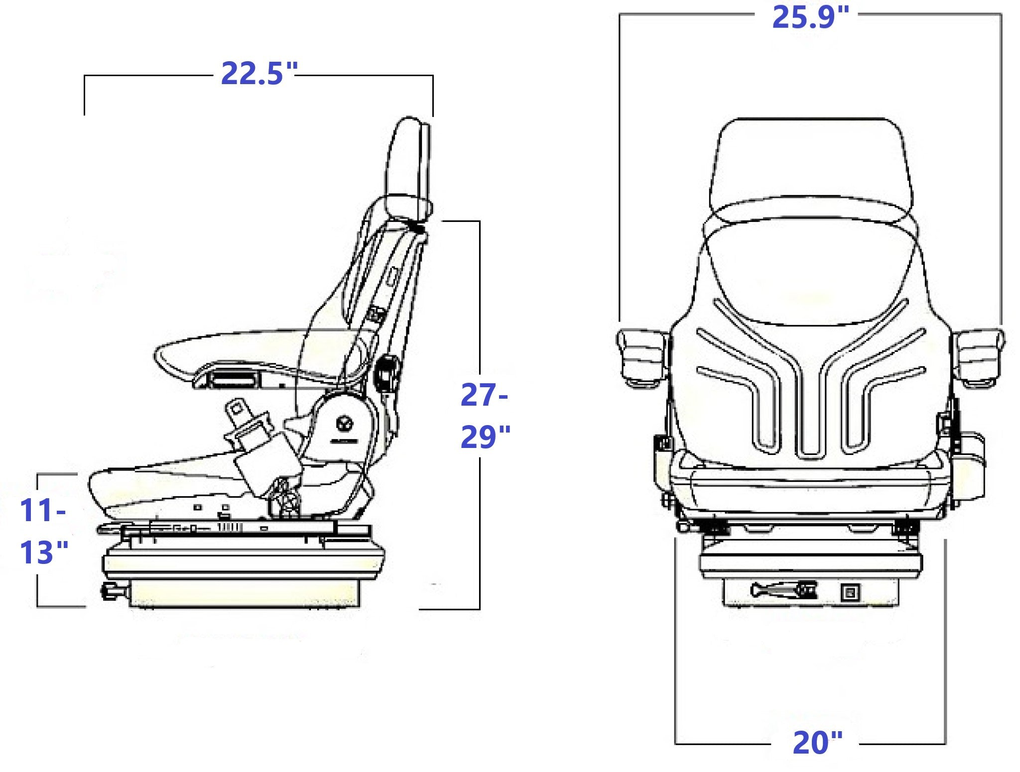 Grammer MSG85/731 NM Technical Drawing