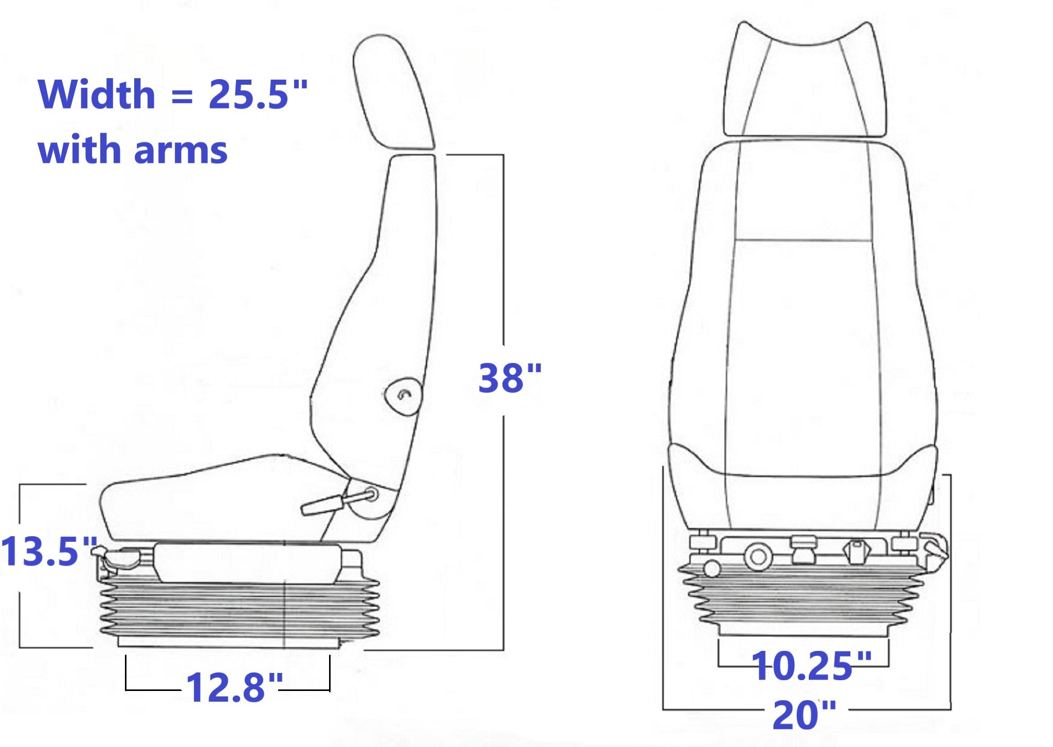 KAB 854 air articulated truck, dozer, loader seat