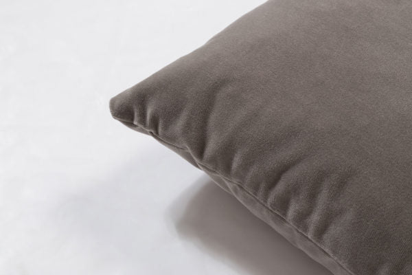 Breathe 18″ Square Feather Cushion – Quiet Grey Velvet