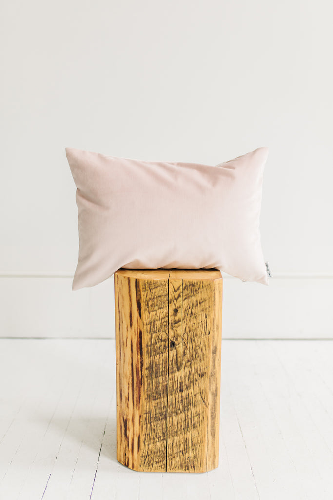 Gwen Blush Velvet Pillow