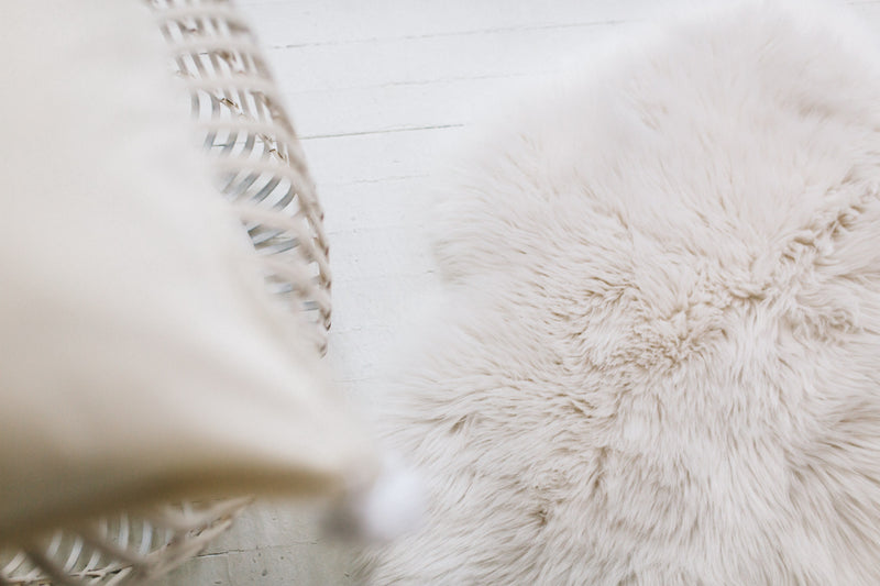 ROXY FAUX FUR THROW RUG