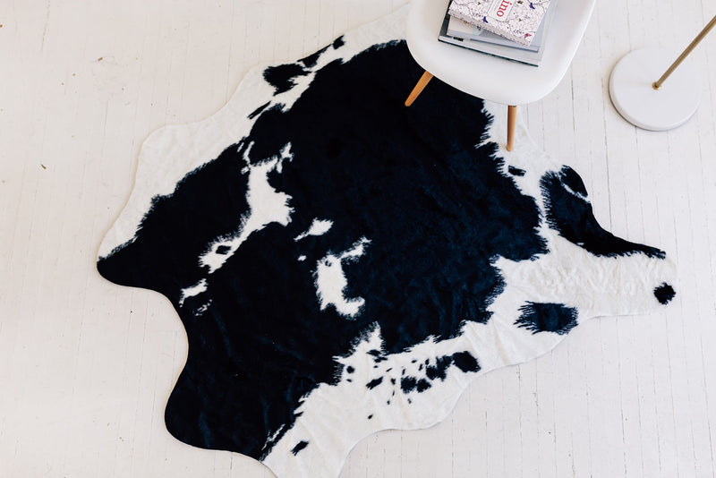Nene Faux Cowhide Black