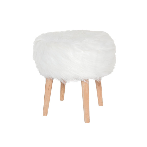 Bohemian Faux Fur Stool