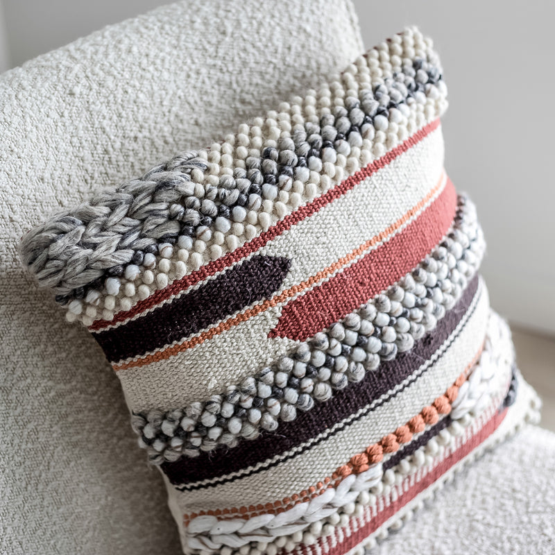 Bohemian Macrame Cushion - Multi