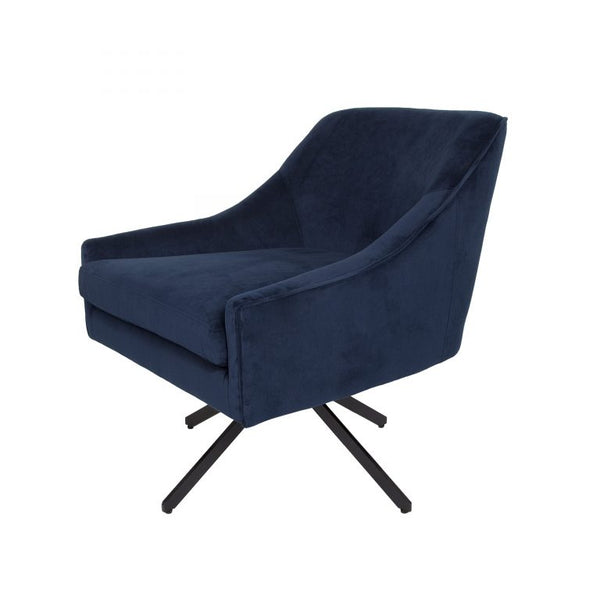 Ethan Swivel Chair -Ink Blue