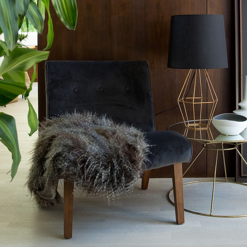 Fifi Occasional Chair - Smoke Velvet