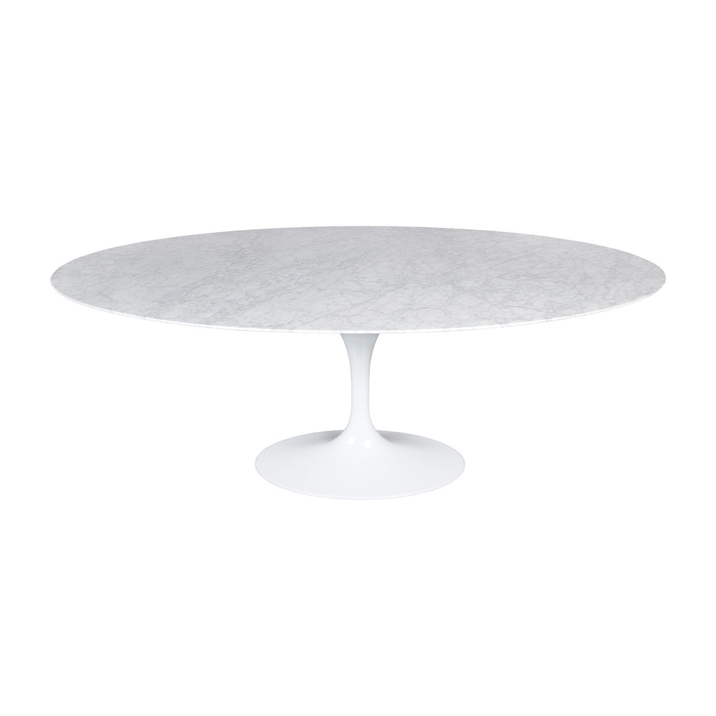 Flute Oval Marble Dining Table