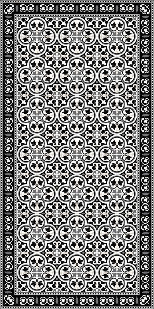 Castillo Black & White Vinyl Mat