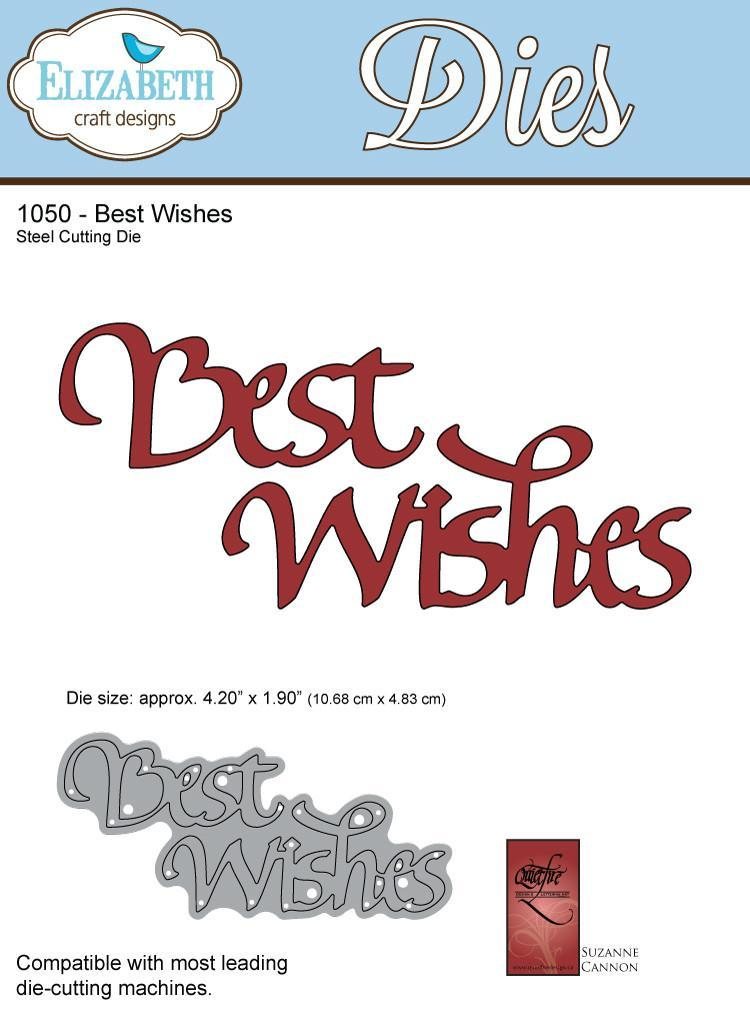 A Way With Words, Best Wishes - Die - ElizabethCraftDesigns.com