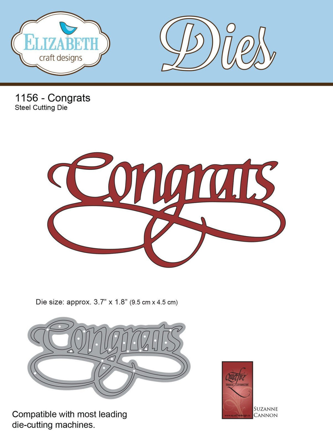 A Way With Words, Congrats - ElizabethCraftDesigns.com