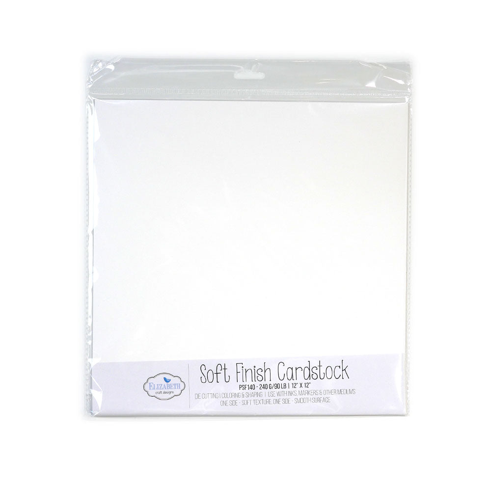 "Soft Finish Cardstock - 12"" x 12"" - 240G/90LB - 10 Pack"