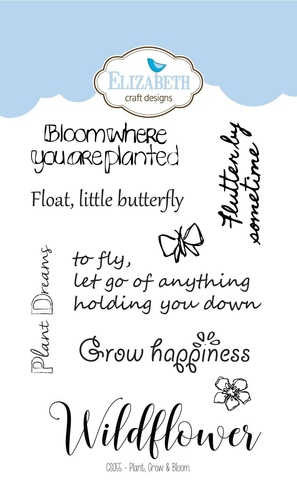 Plant, Grow & Bloom - Clear Stamps