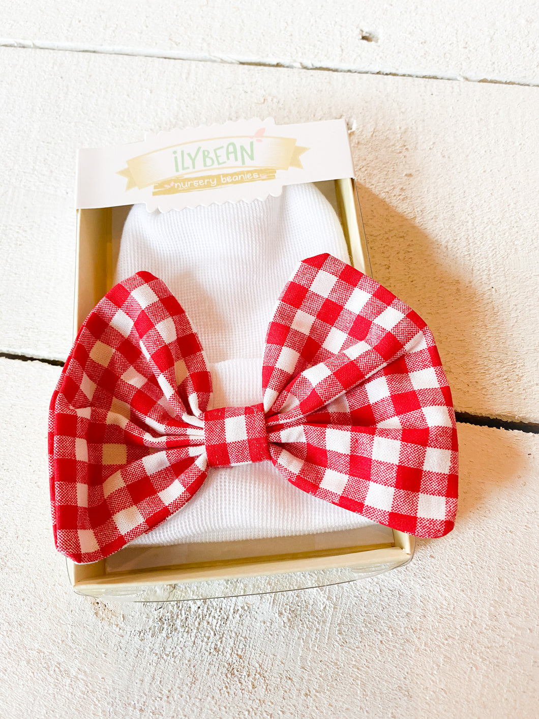 iLYBEAN Nursery Beany - Christmas Check Bow