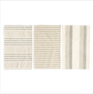 Grey and Tan Tea Towels