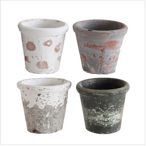 Speckled Clay Planter Pots