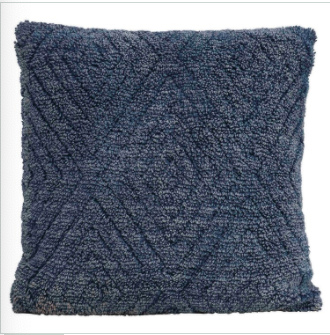 Blue Stonewashed Chenille Pillow