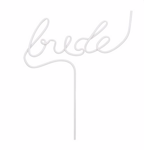 Bride & Groom Straw