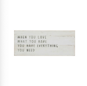 """When You Love.."" Wall Decor"