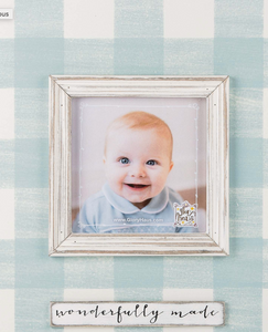Wonderfully Made Blue Picture Frame