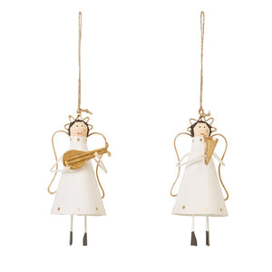 Tin Angel Musician Ornament
