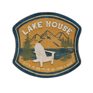 Lake House Metal & Wood Wall Decor