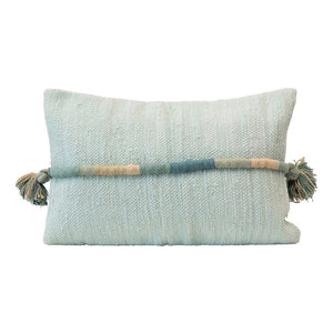 Lumbar Pillow with Wrapped Cord and Tassels
