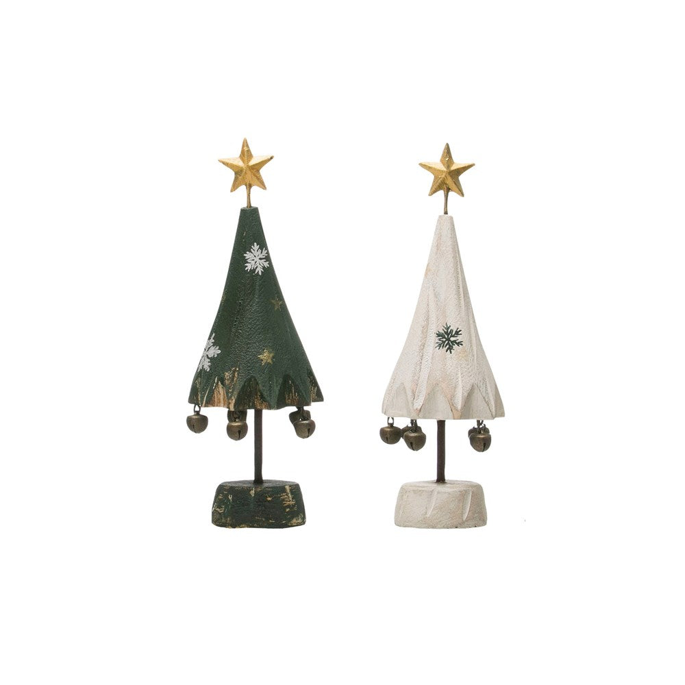 Wood Tree with Star and Bells