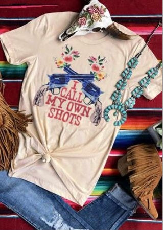 I Call My Own Shots Floral T-Shirt