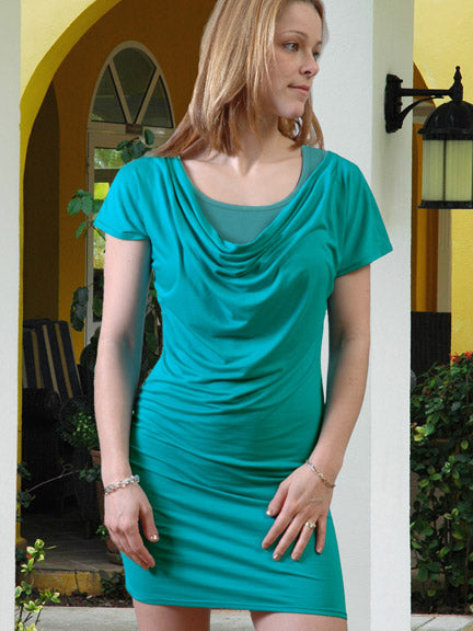Vija Design Monica nursing tunic dress 2 pieces jade