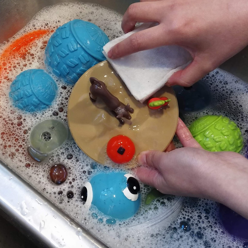 Non-toxic way of dog toy cleaning
