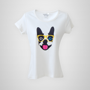 Chopper & Otis | Boston Hips-Terrier - Women | White